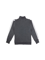 SWEET ANGEL Boys Grey Solid Sweatshirt