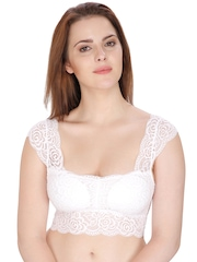 80de9f2d79fd24 Secret Wish White Lace Bralette A96 available at Myntra for Rs.503
