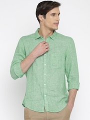 SCULLERS Men Green Slim Fit Casual Shirt