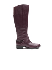 Geox Respira Women Burgundy Breathable Italian Patent Leather Heeled Boots