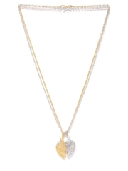 Sukkhi Unisex Set of 2 Gold & Rhodium-Plated Pendants with Chains