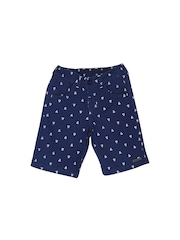 FS Mini Klub Boys Navy Printed Shorts