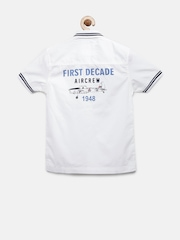 Juniors by Lifestyle Boys White Printed Casual Shirt