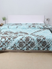 House This Blue & Brown Printed AC Double Comforter