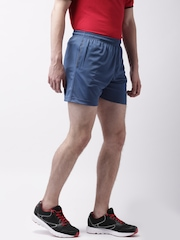 2GO Men Blue Solid Sports Shorts