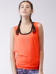 2GO Women Orange Solid Tank Top