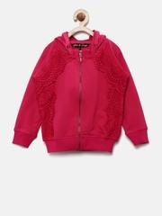 Gini and Jony Girls Pink Hooded Sweatshirt