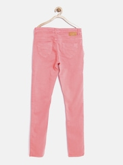Palm Tree by Gini and Jony Girls Pink Regular Fit Mid Rise Clean Look Jeans