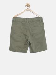 Gini and Jony Boys Olive Green Preppy Fit Bermuda Shorts