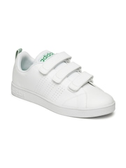 Adidas NEO Men White Solid VS Advantage Clean Sneakers