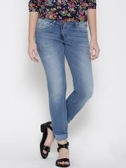 Park Avenue Women Blue Skinny Fit Mid-Rise Clean Look Jeans