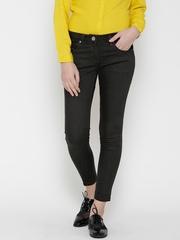 Park Avenue Women Black Skinny Fit Mid-Rise Clean Look Jeans
