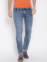 Pepe Jeans Men Blue Slim Fit Low-Rise Clean Look Jeans