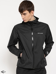 Columbia Black Evapouration Hooded Rain Jacket