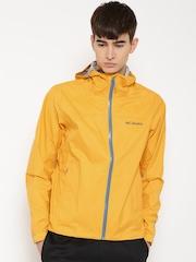 Columbia Yellow Evapouration Hooded Rain Jacket
