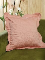"MASPAR Pink Single Embroidered 18"" X 18"" Square Cushion Cover"