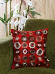 MASPAR Red Single Embroidered 18'' x 18'' Square Cushion Cover