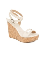 Marc Loire Women Cream-Coloured Solid Wedges