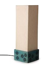 ExclusiveLane Beige & Green Terracotta Rectangular Lamp