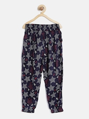 CHALK By Pantaloons Girls Navy Printed Track Pants