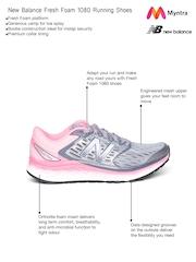 New Balance Women Grey & Neon Pink W1080SP6 Running Shoes