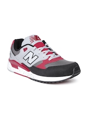 New Balance Men Grey M530PSB Colourblocked Leather Sneakers