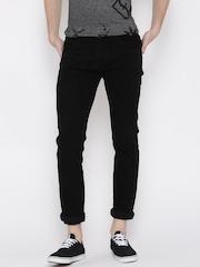 Rodamo Men Black Slim Fit Mid Rise Clean Look Jeans