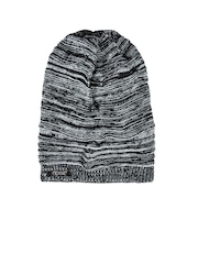 NOISE Unisex Black & Grey Beanie