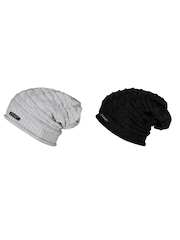 NOISE Unisex Set of 2 Beanies