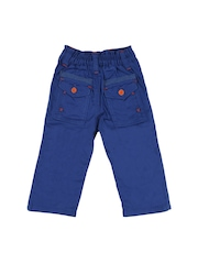 Lilliput Boys Blue Solid Regular Fit Trousers