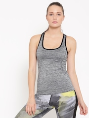 FOREVER 21 Women Grey Solid Tank Top