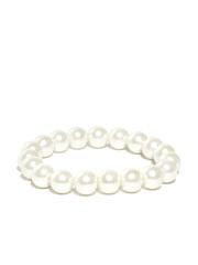 FOREVER 21 Off-White Beaded Elasticated Bracelet