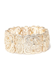 FOREVER 21 Gold-Toned Cut-Out Textured Bracelet