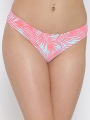 FOREVER 21 Blue & Pink Printed Bikini Briefs 5577504