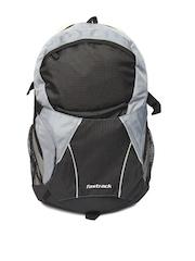 Fastrack Men Black & Grey Colourblocked Backpack