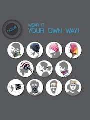 NOISE Unisex Red & Black Printed Multipurpose Headwear