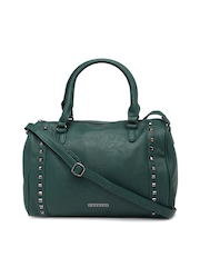 Caprese Green Embellished Handbag