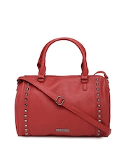 Caprese Red Embellished Handbag