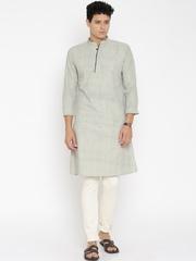 IndusDiva Mumbai Khadi Men Grey Kurta