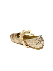 Kittens Girls Gold-Toned Mary Janes