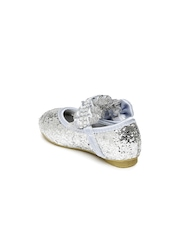 Kittens Girls Silver-Toned Embellished Mary Janes