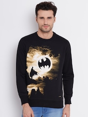 Batman Black Printed Sweatshirt
