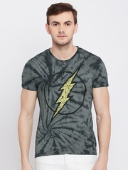 DC Comics Men Grey Dyed Printed Round Neck T-Shirt