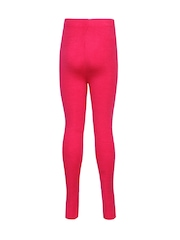Cayman Girls Pink Woollen Ankle-Length Leggings