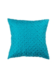 Onset Turquoise Blue Patterned Single 18'' x 18'' Square Cushion Cover