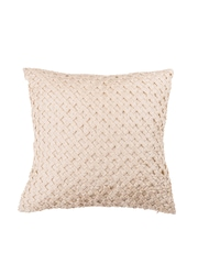 Onset Cream-Coloured Patterned Single 18'' x 18'' Square Cushion Cover