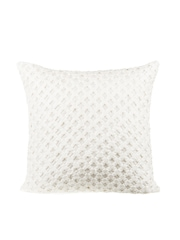 "Onset White Single 18""x18"" Woven Square Cushion Cover"