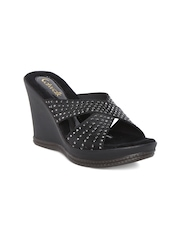 Catwalk Women Black Solid Wedges