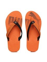 Puma Unisex Orange & Black Miami Fashion II IDP Colourblocked Flip-Flops
