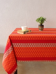"House This Red Rectangular Patterned 60"" x 92"" Cotton Table Cover"